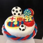 Barcelone Football Cake