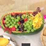 buffet corbeille de fruits