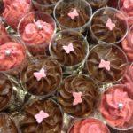 verrines chocolat-framboises